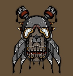 Steampunk Ink Skull vector image
