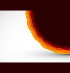 abstract red orange waves background vector image