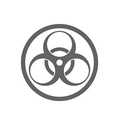 Biohazard symbol isolated vector image