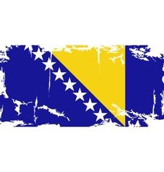 Bosnia and herzegovina grunge flag vector