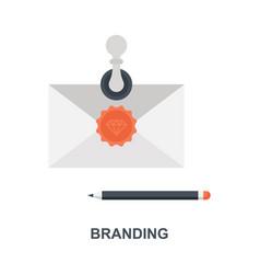 branding icon concept vector image