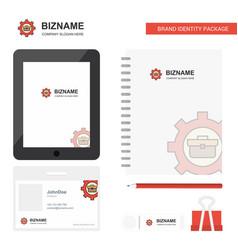 Breifcase setting business logo tab app diary pvc vector