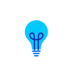 bulb logo icon vector image