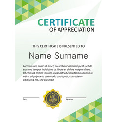 certificate modern template vertical vector image