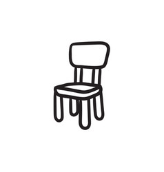 Chair for children sketch icon vector