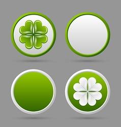 Clover icons vector