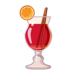 Cocktail with lemon icon cartoon style vector image