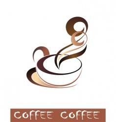coffee tea cup vector image vector image