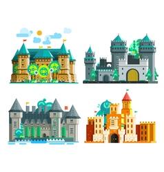 Colorful Castles Set vector image