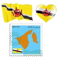 Colours of Brunei vector