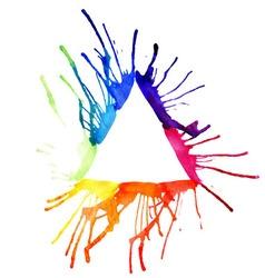 Contour triangle watercolor vector image