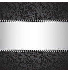 dark lace card vector image