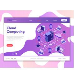 data network cloud computing technology isometric vector image