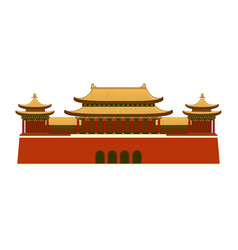 East asian building icon vector