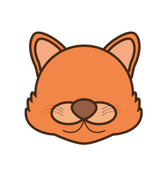 face wolf cartoon animal vector image vector image