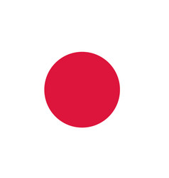 flag of japan national japan flag vector image