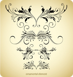 floral borders vintage design vector image