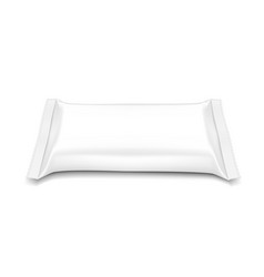 flow pillow pack isolated on white background vector image