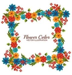 Flower color design vector