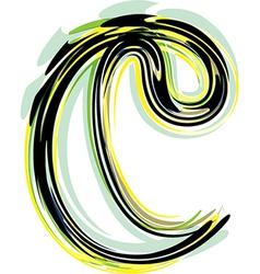 font letter c vector image