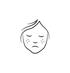 Freckles on face icon element anti aging vector