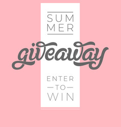 Giveaway banner for contests in social media vector