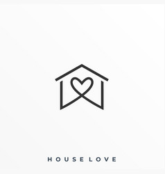 Home love template vector