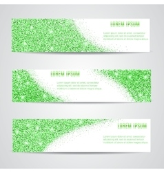 Horizontal green Banners Set vector image