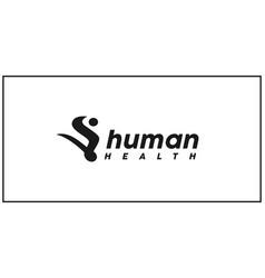 human healthy logo design inspiration vector image