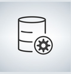 Linear database server isolated flat web mobile vector