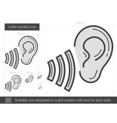 Listen symbol line icon vector