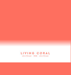 living coral trendy color 2019 abstract background vector image