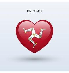 Love isle man symbol heart flag icon vector