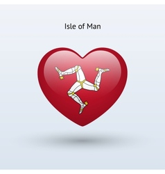 Love Isle of Man symbol Heart flag icon vector