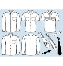 Man shirts and necktiesFashion clothes vector image