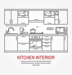 Modern kitchen wall interior vector image