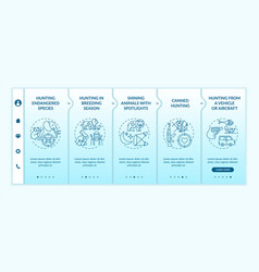 Negative effects hunting onboarding template vector