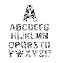ornamental alphabet letters font vector image