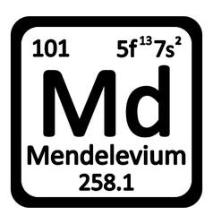 Periodic table element mendelevium icon vector