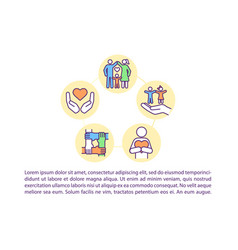 Positive effects concept icon with text vector