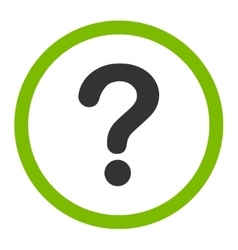 Question flat eco green and gray colors rounded vector