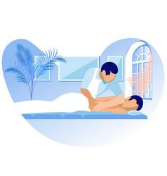 Rehabilitation massage cartoon vector
