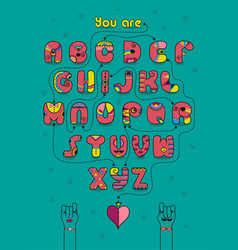 romantic cipher text you are my prince vector image