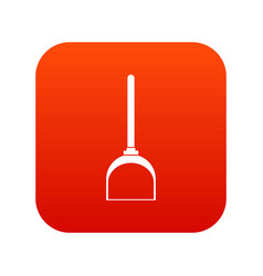 Scoop for cleaning icon digital red vector