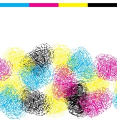 Seamless pattern with color fingerprints vector