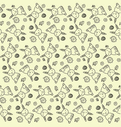 Seamless spring pattern vector