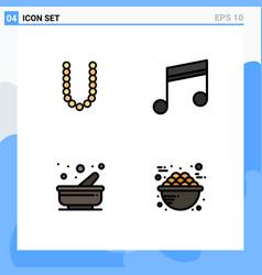 Set 4 modern ui icons symbols signs vector