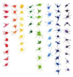 Set of color watercolor blots vector image