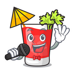 singing bloody mary mascot cartoon vector image