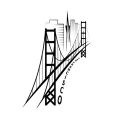 skyline of San Francisco design template vector image vector image